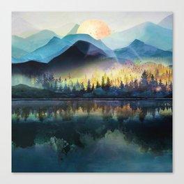 Mountain Lake Under Sunrise Leinwanddruck