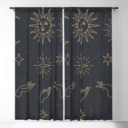 Dark Mythical Zodiac Blackout Curtain