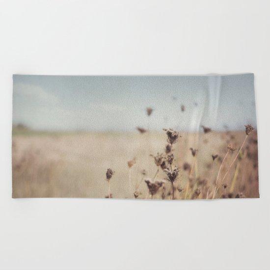 Fall Field Beach Towel