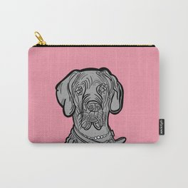 The Pinkest of the Great Dane Carry-All Pouch