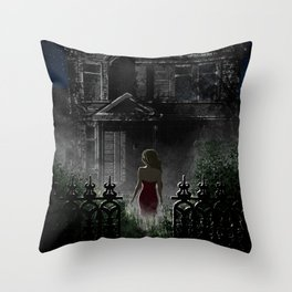 """Old house, """"Red Dress"""" Collection  Throw Pillow"""