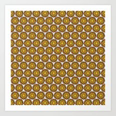 orange (pattern) Art Print