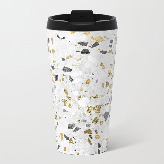 Glitter and Grit Metal Travel Mug