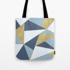 Abstract Blue and Gold Tote Bag