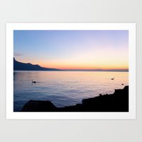 Separate Sunsets Art Print