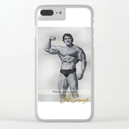 Stop whining Clear iPhone Case
