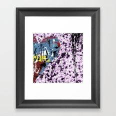 Love cushion Framed Art Print