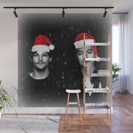 Larry Stylinson Christmas B&W Wall Mural