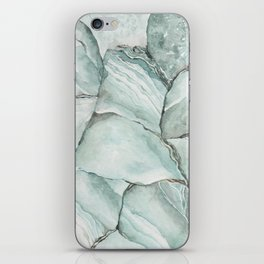 Aquamarine Stone iPhone Skin