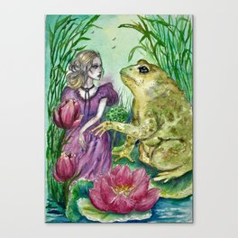 Thumbelina and the Toad Canvas Print