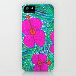 Hawaii Dreams Hibiscus Print iPhone Case