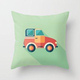Toy Retro Car Throw Pillow