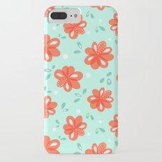 Cheerful Red Flowers Pattern Slim Case iPhone 7 Plus