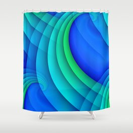 time for abstraction -20- Shower Curtain