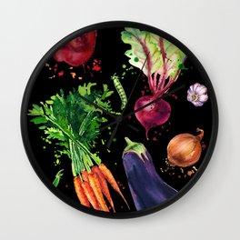 Art vegetables Wall Clock