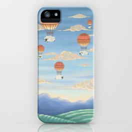 Flying Sheeps iPhone Case