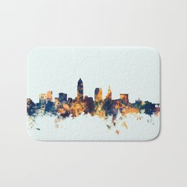 Cleveland Ohio Skyline Bath Mat