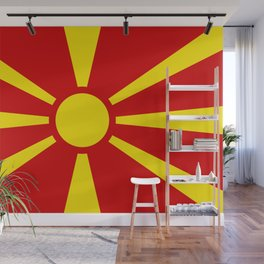 National flag of Macedonia - authentic version Wall Mural