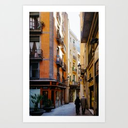 LOVE IN BARCELONA Art Print