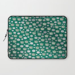 green shiny mosaic,silver,Canada maple leaf Laptop Sleeve