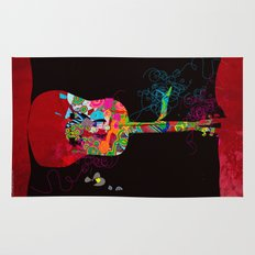 graphic guitar Rug