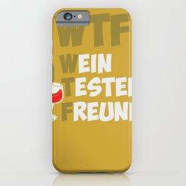 Wine Tester Vitner Wine Bottle Wine Glas iPhone Case
