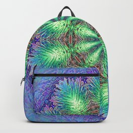 Blue Vintage Flower Background Pattern Backpack
