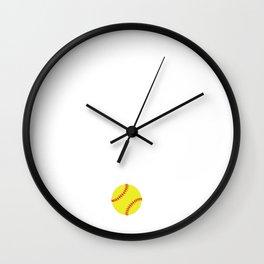 What Off Season Softball Player T-Shirt Wall Clock