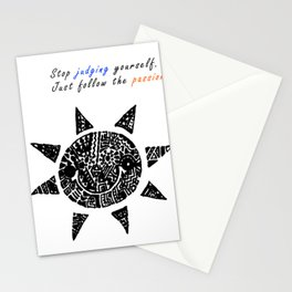 Stop Judging Follow the Passion Stationery Cards