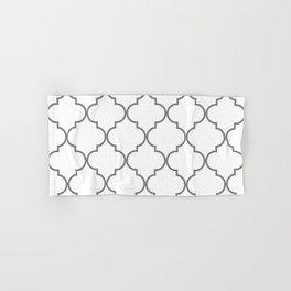 Quatrefoil - Gray and White Hand & Bath Towel