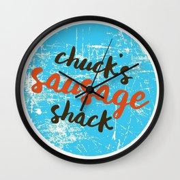 Chuck's Sausage Shack Wall Clock