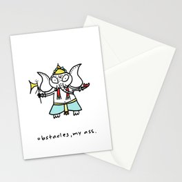 obstacles, my ass (ganesha) Stationery Cards