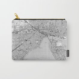 Vintage Map of Jacksonville Florida (1950) BW Carry-All Pouch