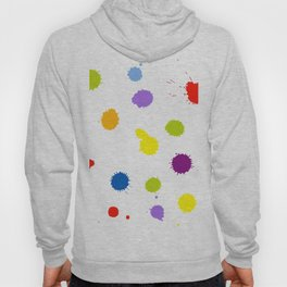 Seamless pattern background with rainbow blots Hoody