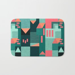Teal Klee houses Bath Mat
