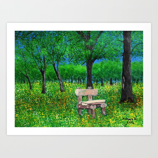 Sit with me  Art Print