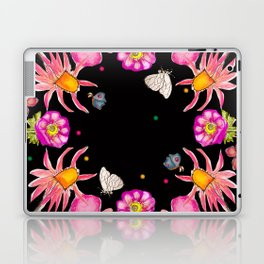flowers in black Laptop & iPad Skin