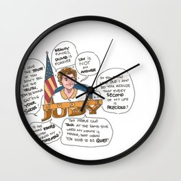 Justice Admirer Wall Clock