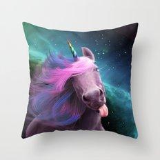 Sassy Unicorn Throw Pillow