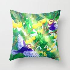 The seasons | Summer birds Throw Pillow