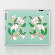 Floating Tulips (mint green) Laptop & iPad Skin