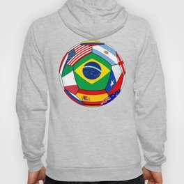 Ball With Various Flags Hoody