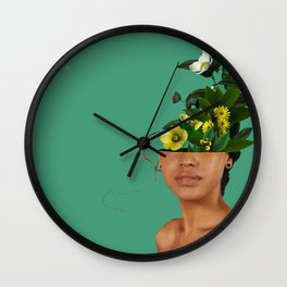 Lady Flowers VII Wall Clock