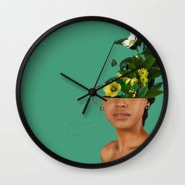 Lady Flowers VII Wall Clock