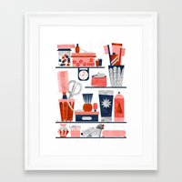 bathroom Framed Art Prints featuring Bathroom by Kata