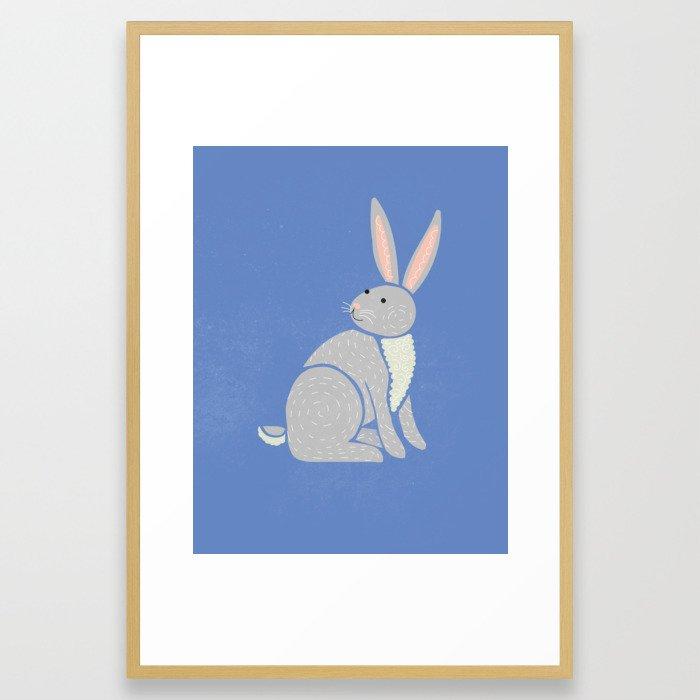 R is for Rabbit (text free) Framed Art Print