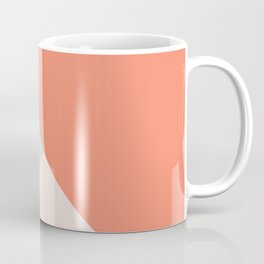 Geometric orange teal lavender color block pattern Coffee Mug