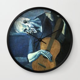 The Old Guitarist - Picasso Wall Clock