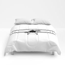 Biplane Silhouette Comforters
