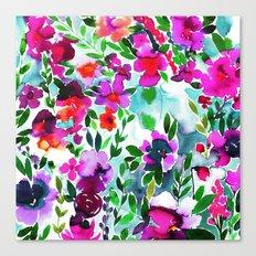 Evie Floral Magenta Canvas Print